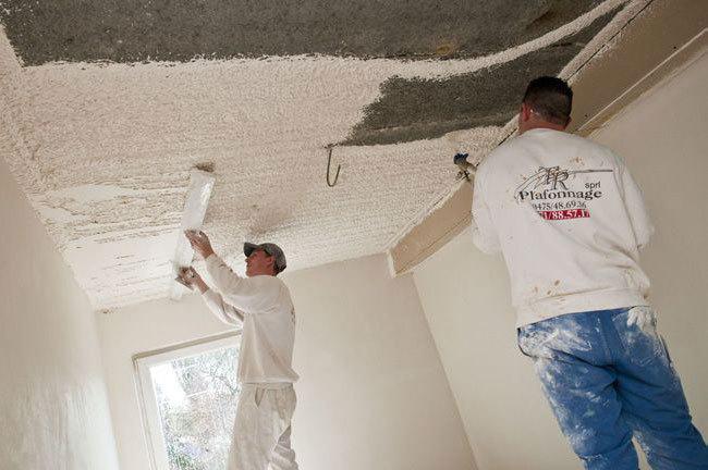 Tr plafonnage sprl plafonnage cimentage cloisons faux for Plafonnage mur exterieur